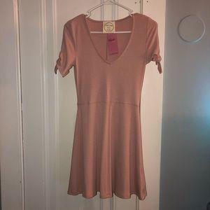 Blushed skater dress